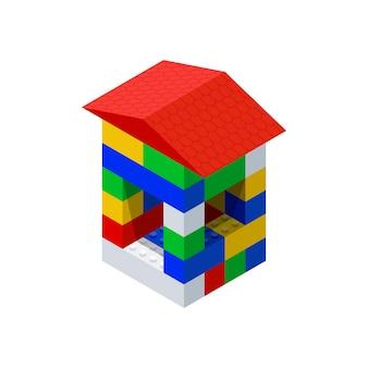 Строим домик из детского конструктора