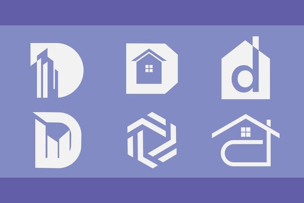 Набор логотипов для строительства и недвижимости