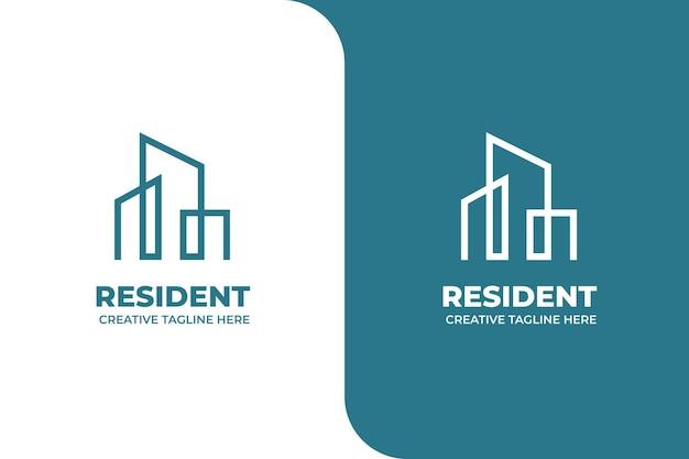 Building apartment monoline logo