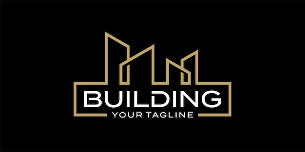 Архитектура здания логотипа дизайн шаблона вдохновение