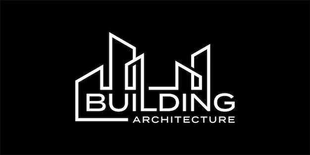Building architecture word mark logo design inspiration template