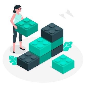 Building blocks concept illustration
