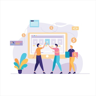 Building business project illustration