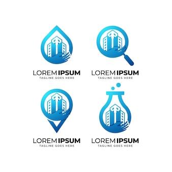 Набор для дизайна логотипа по уходу за зданием