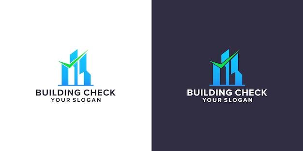 Building check logo template