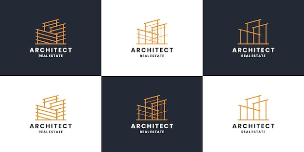 Building construction, architect logo design collection. for real estate, contractor.