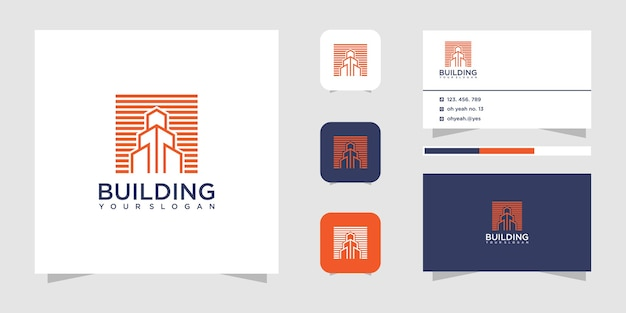 Building construction logo design and business card.