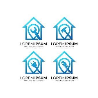 건물 건설 로고 디자인 컬렉션