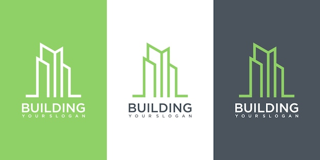Вдохновение для дизайна логотипа строительства. дизайн логотипа