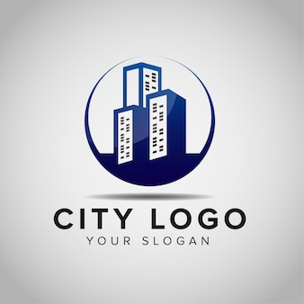 Вдохновение для дизайна логотипа строительства здания