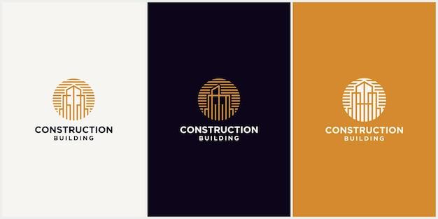 Building construction logo, modern real estate business logo, creative logo vector illustration for building agency, architecture, real estate, interior design.