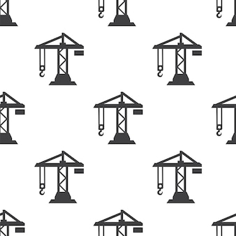 Building crane, vector seamless pattern, editable can be used for web page backgrounds, pattern fills