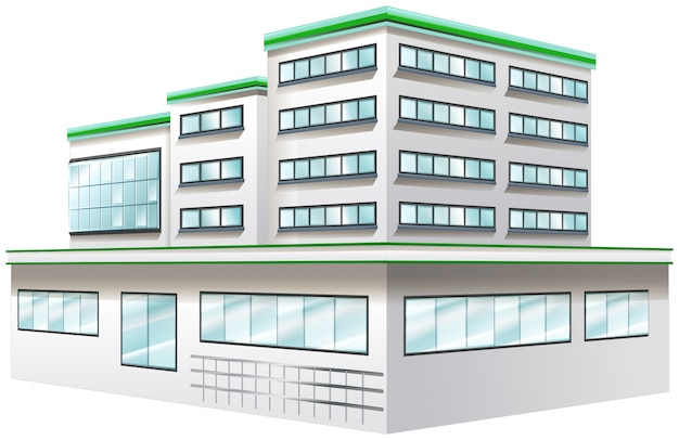 Building design for hospital Free Vector