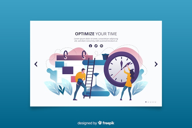 Building efficient ways to be on time landing page