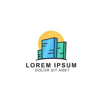 Значок логотипа здания