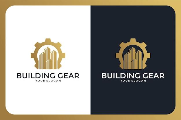Building gear elegant logo design