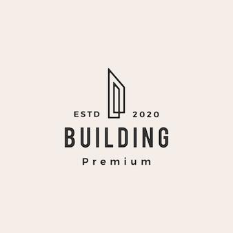 Building hipster vintage logo icon illustration