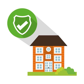 Building home security button shadow