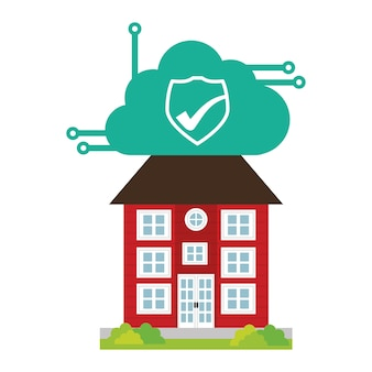 Building home security cloud cyber technology