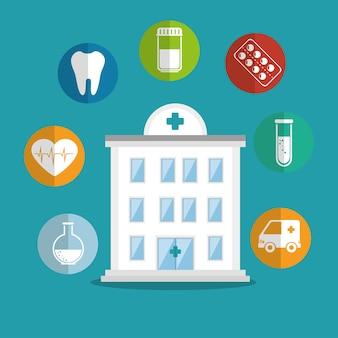 Создание значков службы больницы