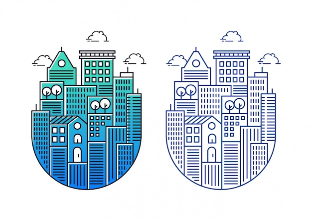 Building illustrations with circular shapes
