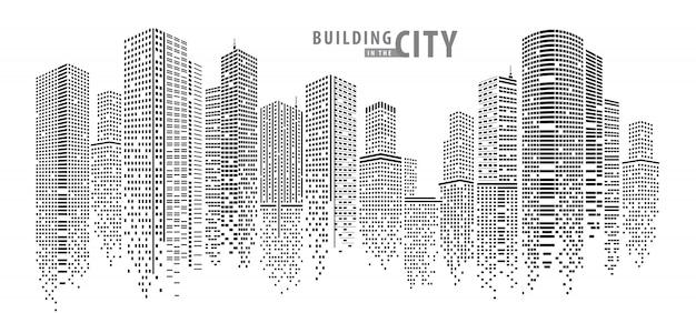 도시에있는 건물