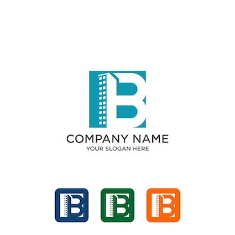 Building initial b, real estate logo