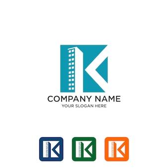 Building initial k, real estate logo