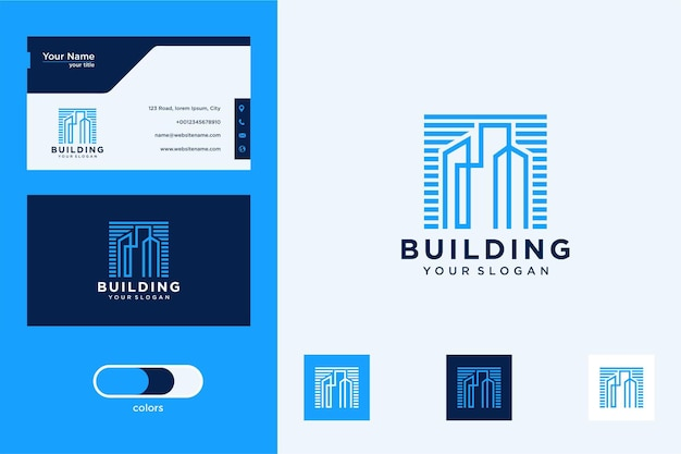 Building logo design and business card