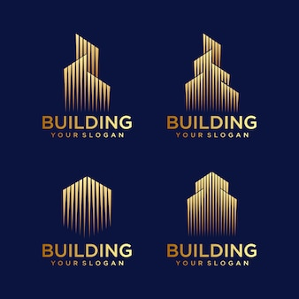 Building logo design. construction logo design.
