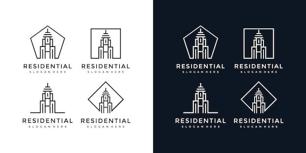 建物のロゴr文字記号
