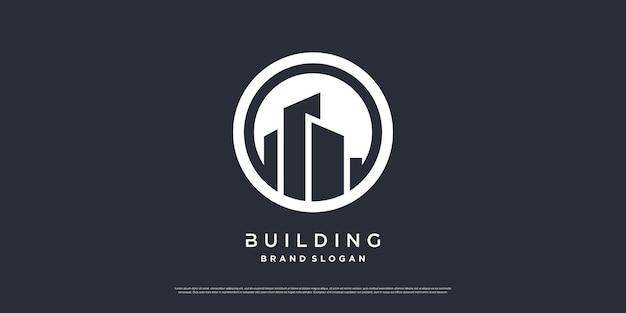 Building logo template with modern unique concept premium vector part 2