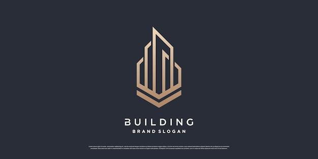 Building logo template with modern unique concept premium vector part 3