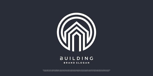 Building logo template with modern unique concept premium vector part 5