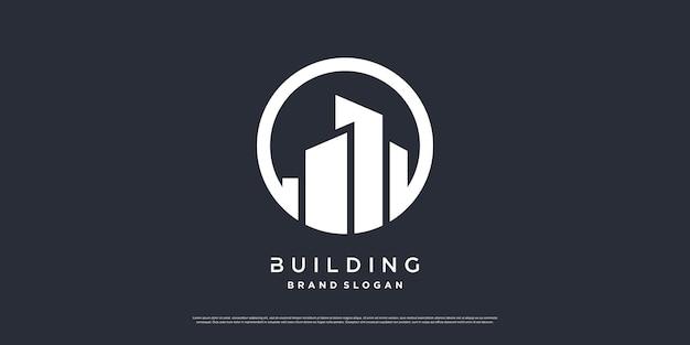 Building logo template with modern unique concept premium vector part 7