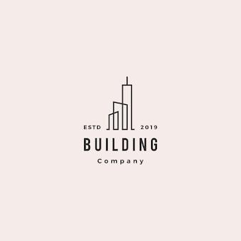 Building logo vintage retro hipster