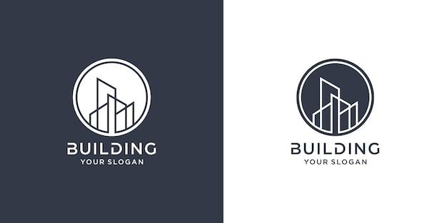 Building logo with line concept premium vector part 1