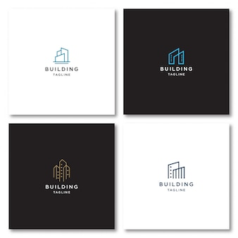 Building logo with line style