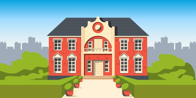 Building mansion house illustration