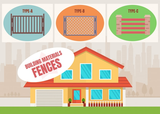 Building materials shop fences product flat