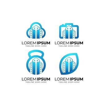 건물 미디어 로고 디자인 모음