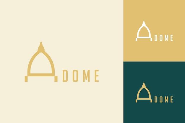 建物またはドームのロゴデザイン