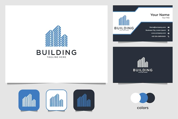Building real estate logo design and business card
