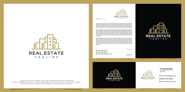 Building and real estate logo design template