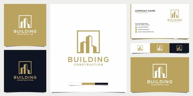 건물 부동산 로고 아이콘 및 명함 서식 파일