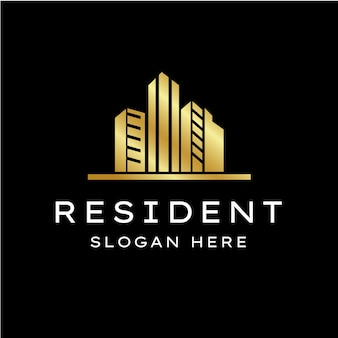 Шаблон логотипа строительства недвижимости