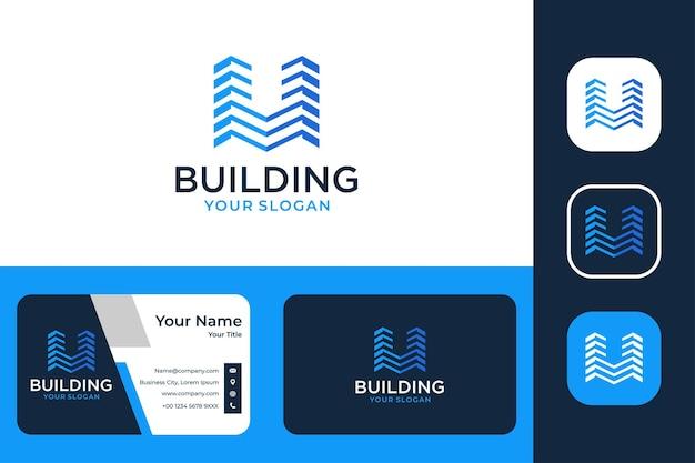 Building real estate modern logo design and business card