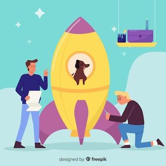 Building rocket concept