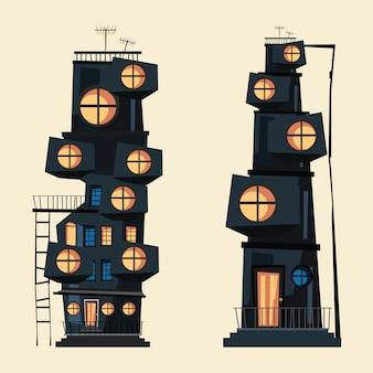 建物セットのベクトル図