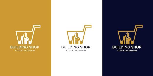 Строительный магазин дизайн логотипа